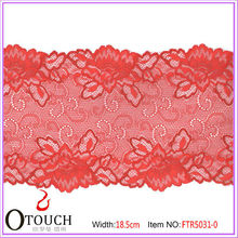 Charming Colorful Embroidery Lace for Bra OKEO Tex