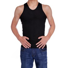 Cheap Men stylish High Elasticity Bodycon Soft Vest t-shirts