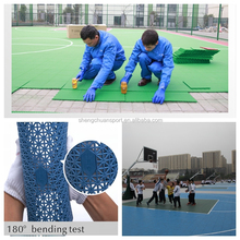 Outdoor interlocking sports court flooring used for basketball court