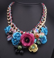 Collares De Moda 2015 Flower Statement Necklace
