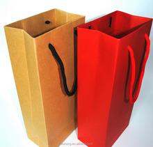 Custom printed food grocery shopping brown kraft paper bag