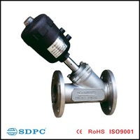 angle-seat stainless flange valve/control valve uesed for air and neutral gas DN-25F