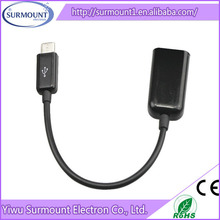 Special USB 2.0 data OTG cable with power black high speed micro USB host OTG cable adapter connection kit
