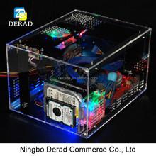 PC-C740 QDIY Deluxe Transparent Plastic Computer Case