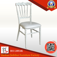 Wholesale white Wedding resin upholstered chiavari chair Napoleon chair