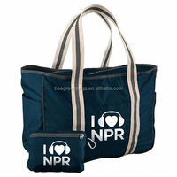 Promotional Polyester/Recycled Pet Sports Duffel Bag with Zippered Pouch