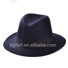 high quality fedora wool felt hat black wholesale