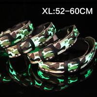 Pet collar collar collar LED light cool luminous cloth camouflage a factory direct XL