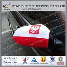 car mirror cover flags poland