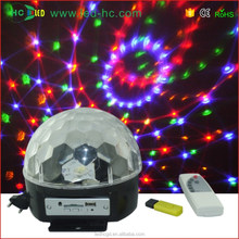 disco light use remote control& sd card& MP3 player , led stage light