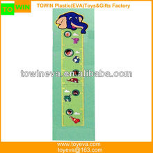 Eco-friendly EVA foam animal height charts/growth chart