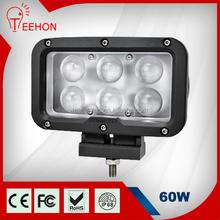 Factory Wholesale 4D Lens Spot Beam Rectangle 60 Watt Led Work Light for 4x4 Trucks
