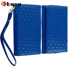 Hot selling Black Luxury Leather Wallet Pouch Case Cover with Slots for Samsung Galaxy Note, OEM factory mobile phone case cover