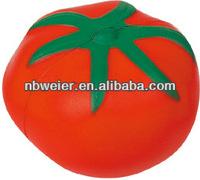 dia.6x4.5cm PU stress ball tomato shape