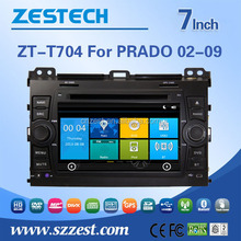 7inch fixed digital panel car DVD player for Toyota Land Cruiser with GPS, TV and bluetooth