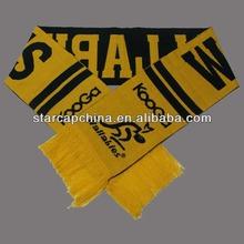 en blanco de moda bufandas de punto deporte equipo bufanda