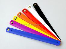 New Silicone Slap USB Wrist Band Bracelet USB Flash Drive