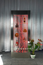 water bubble wall panel with stainless steel frame for home decor