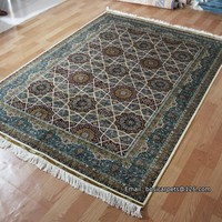 Hand knotted persian style natural silk product 2015 new design carpet online store