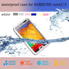 Can be under water 2 M waterproof phone case for samsung galaxy note 2/3