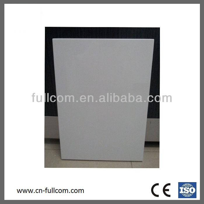 High Gloss Laminate Cabinet Doors: Bevel Edge White High Gloss Painted Finish Kitchen Cabinet