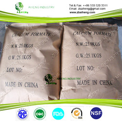 Industrial Grade Antifreeze Additive Calcium Formate 98 Min Manufacturer