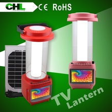 Best selling in africa led flashlight with solar panel,led panel light with TV,rechargeable battery for solar lantern