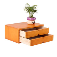 small wooden office furniture desk top file cabinet with 2 drawers household storage closet