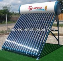 250l integrado sin presión de acero de colores del sistema solar del calentador de agua con el ce, solar keymark