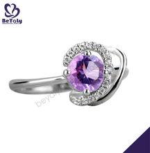 Moda jóias de prata anel, anéis baratos para meninas