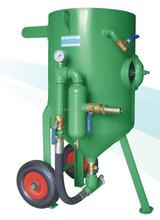 Portable pressure air sand/abrasive blasting pots/sandblasters clean/deburr/shot peen/remove coating/finish