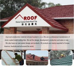 stone coated steel roof tile, insulated roof tiles, colorful stone coated metal roof tile