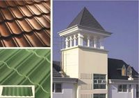 sancidalo high strength and quality Recycled plastic(APVC) roof tiles/plastic roof tile steel roofing tiles asphalt shingles