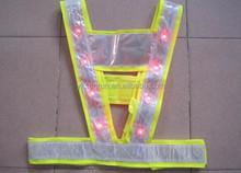 EN ISO 20471 Class 2 Yellow Orange led warning safety vest SRD-297