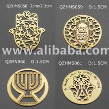 Pandent of hamsa star of david Aaron's Breastplate Messianic Seal chai menorah mezuzah