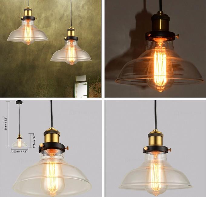 Industrial Edison Bulb Single Pendant Light DIY Chandelier