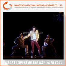 45 angle 3D Holo reflection imaging Film/holographic display 3d pyramid for advertising and big stage and T show