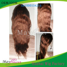Factory price red human hair lace front wig light yaki wave Malaysian hair half handtied tangle free