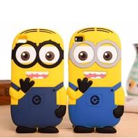 Cute Cartoon Minion Silicone Soft Cover Case For Huawei Ascend P8 Lite