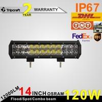 NEW ITEMS! 2PCS/LOT! 120W 4D LED TRUCK LIGHT Worklight for Truck 4x4 ATV UTV 4WD Truck 12V 24V