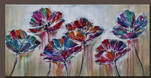Fashion product 2015 modern flower oil painting for bedroom HKY2