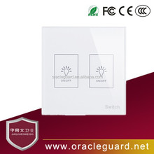 JGW-110K02 touch button Waterproof 2 route electric switch with toughened glass surface