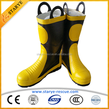 Firefighter Protective Firefighting Used 6 Layers Protect Fireman's Boots