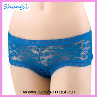 Hot selling see through sexy lace transparent panty woman underwear