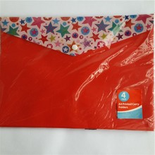 Plastic file carry folder case made in China