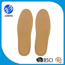 OEM manufacturer professional soft comfort genuine leather insole latex material for insole