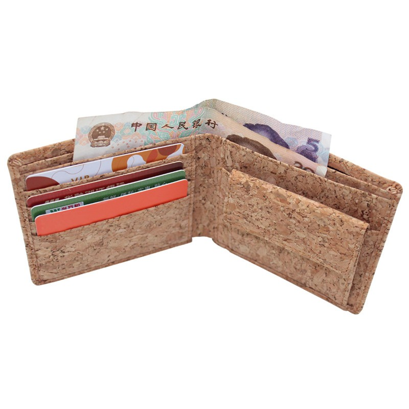 BOS0916 star grain cork wallet with coin pocket.jpg