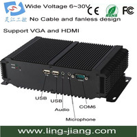 Mini Fan Less Computer With Wide Range Operating Temperature -25-80