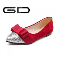 Most Popular Girls Leather Dress Casual Shoes Leather Flat Shoes