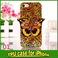 hot sale phone case Butterfly design TPU case for iphon5s for iphone 6 6plus